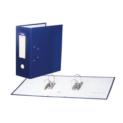 Папка-регистратор с двумя арочными механизмами (до 800 листов), покрытие ПВХ, 125мм, синяя, 251541  Код: 226054
