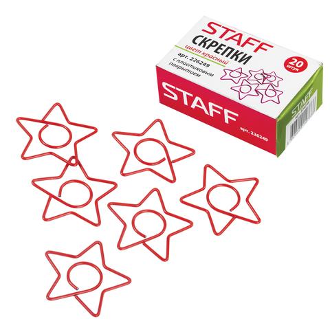 """Скрепки STAFF """"Звезда"""", 32 мм, 20шт., в картонной коробке, СП  Код: 226249"""