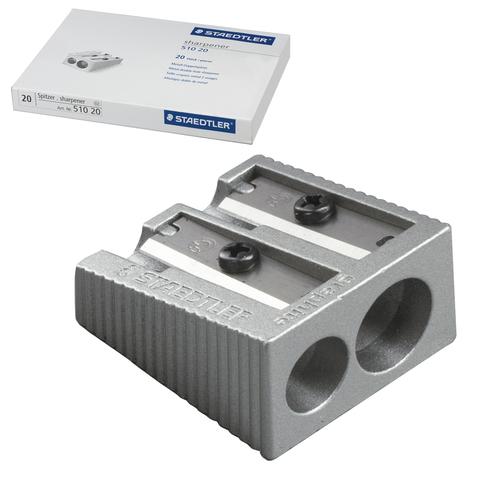Точилка STAEDTLER (Германия), 2 отверстия, металлическая клиновидная, 510 20  Код: 226430