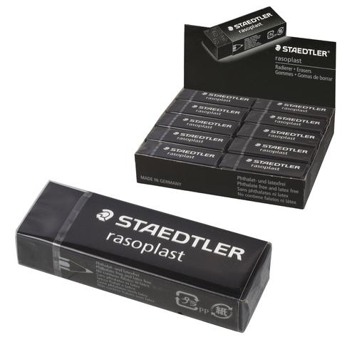 """Резинка стирательная STAEDTLER (Германия) """"Rasoplast"""", 65x23x13мм,черная,карт.держ,дисплей,526 B20-9  Код: 226439"""