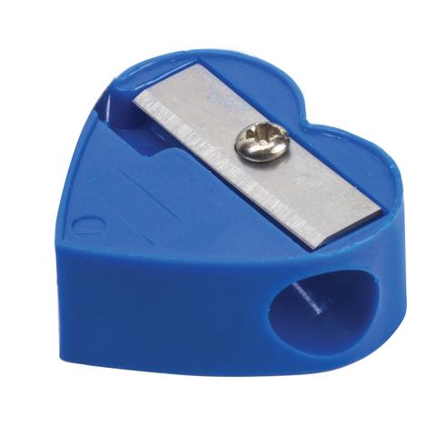 Точилка ПИФАГОР, без контейнера, пластиковая, ассорти, сердечко, 226532  Код: 226532