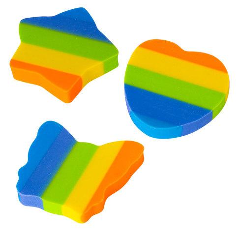 """Резинка стирательная ПИФАГОР, """"Радуга"""", 30x30x6 мм, цветная, фигурная, 226535  Код: 226535"""