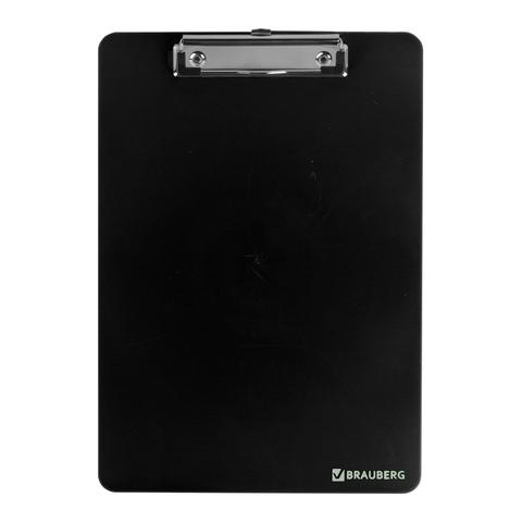 Доска-планшет BRAUBERG (Брауберг) SOLID с верхним прижимом, прочный ABS, А4 315*225мм, 2мм, черная, 226822  Код: 226822