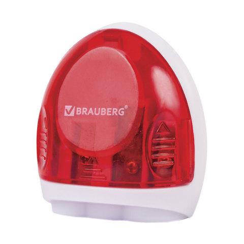 Точилка BRAUBERG (Брауберг) TERN с контейнером, пластиковая, овальная, 3 отверстия, цвет ассорти, 226939  Код: 226939