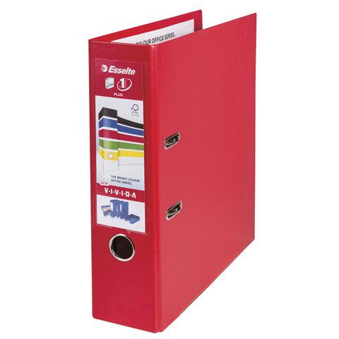 Папка-регистратор ESSELTE 80мм, А4+ ,VIVIDA Plus, с двухстор. покр. из полипропилена, красная, 81183  Код: 227134