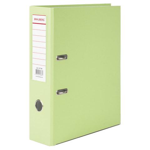 Папка-регистратор BRAUBERG (Брауберг) с покрытием из ПВХ, 80 мм, с уголком, лайм (удв. срок службы), 227196  Код: 227196