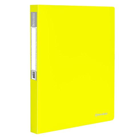 "Папка 40 вкладышей BRAUBERG (Брауберг) ""Neon"", 25мм, неоновая желтая, 700мкм, 227453  Код: 227453"