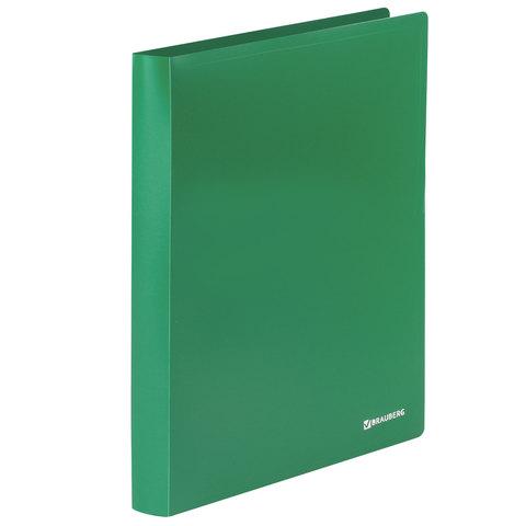 Папка на 2 кольцах BRAUBERG (Брауберг) Office, 32мм, зеленая, до 250 листов, 0,5мм, 227501  Код: 227501