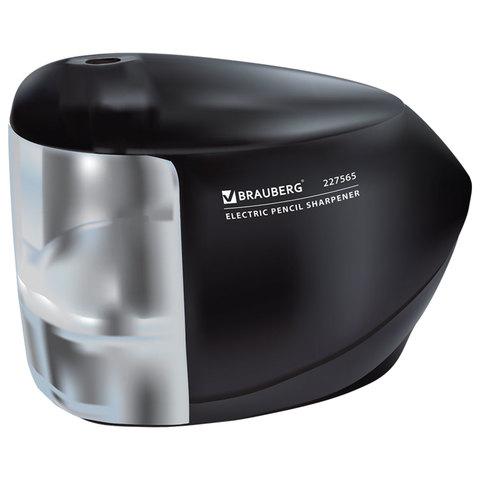 Точилка электрическая BRAUBERG, питание 220В или 4 батарейки АА, надежный фрезерный механизм, 227565  Код: 227565