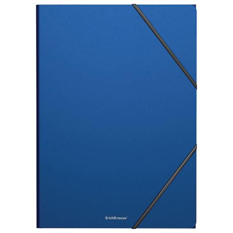 """Папка на резинках ERICH KRAUSE """"Classic"""" А4, до 300 листов, 400 мкм, синяя, 43093, 47190  Код: 227671"""