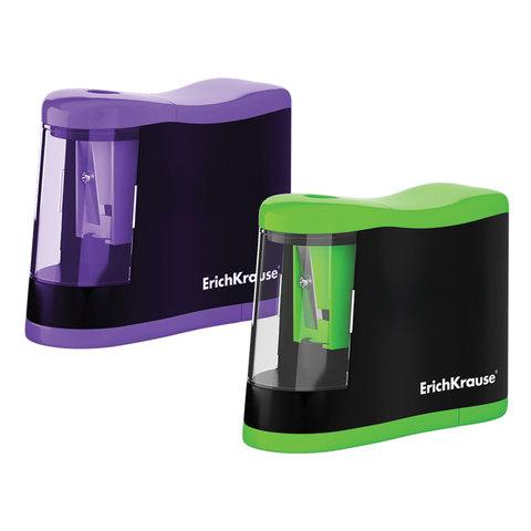 "Точилка электрическая ERICH KRAUSE ""Compact"", питание от 2 батареек АА, цвет корпуса ассорти, 44503  Код: 227721"