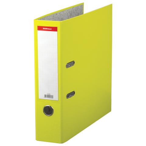 """Папка-регистратор ERICH KRAUSE """"Neon"""", ламинированная, 70 мм, желтая, 45398  Код: 227732"""
