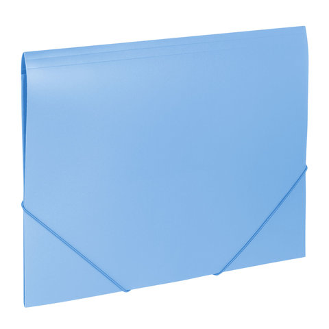 Папка на резинках BRAUBERG (Брауберг) Office, голубая, до 300 листов, 500 мкм, 228078  Код: 228078