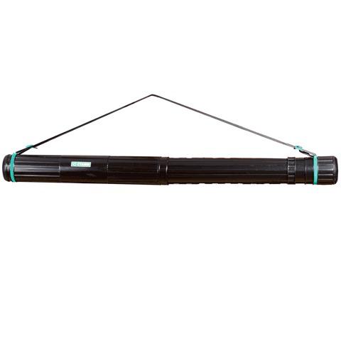 Тубус для чертежей СТАММ телескопический, диам.8,5см, 63-110см, А0, черный на ремне, ПТ11  Код: 231146