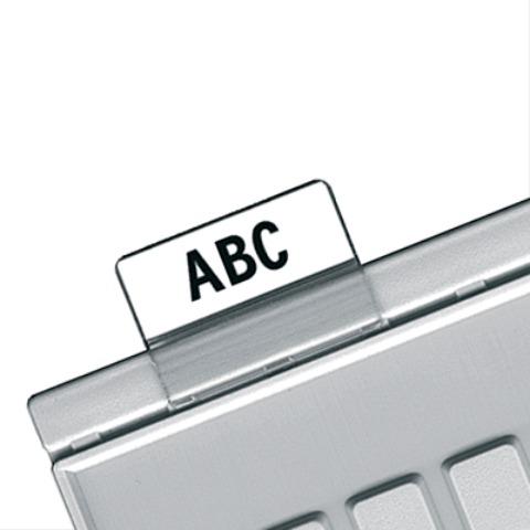 Картотечные индексные окна HAN (Германия), КОМПЛЕКТ 10 шт., для разделителей А4,А5,А6, прозр.,НА9001  Код: 231171