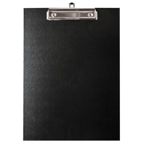 """Доска-планшет ERICH KRAUSE """"Standard"""" с верхним прижимом, 22,7*31,5 см, картон/бумвинил, черная, 754  Код: 235500"""