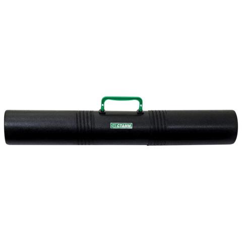 Тубус для чертежей СТАММ 3-х секционный, диам. 10 см, длина 65 см, А1, черный, с ручкой, ПТ41  Код: 235931