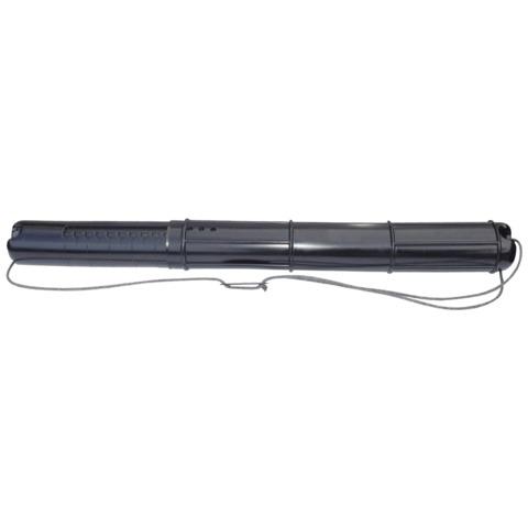 Тубус для чертежей СТАММ телескопический, диам. 9 см, длина 70-110 см, А0, черный, на шнурке, ПТ01  Код: 235933