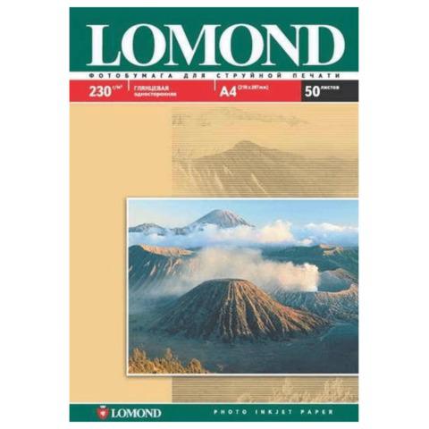 Фотобумага LOMOND для струйной печати A3, 230 г/м2, 50л, односторонняя глянцевая, 0102025  Код: 361589