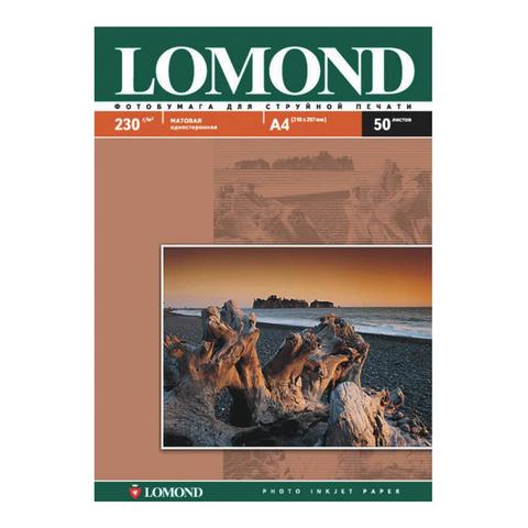 Фотобумага LOMOND для струйной печати A3, 230 г/м2, 50л, односторонняя матовая, 0102156  Код: 362758