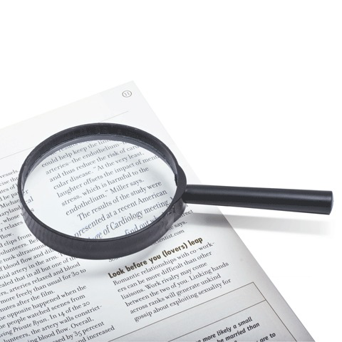 Лупа просмотровая, диаметр 75 мм, увеличение 5, SMG02  Код: 450475