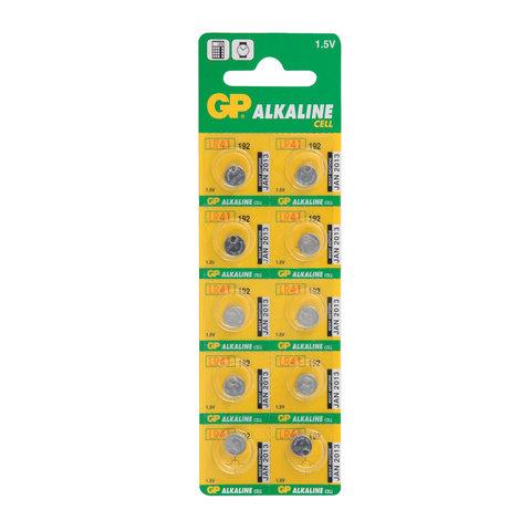 Батарейка GP Alkaline, 192 (G3, LR41), алкалиновая, 1 шт, в блистере (отрывной блок), 192-2CY  Код: 452222
